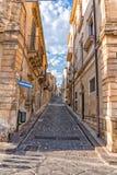 西西里岛noto巴洛克式的镇视图在晴天 免版税库存照片