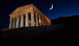 西西里岛Segesta寺庙 免版税图库摄影