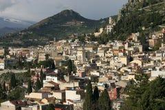 西西里岛taormina 库存图片