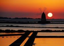 西西里岛trapani 库存照片