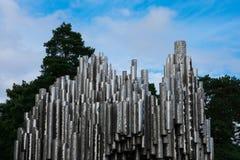 西贝柳斯纪念碑西贝柳斯monumentti看法  免版税库存照片
