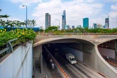 西贡地下隧道 库存照片