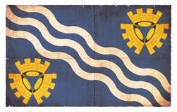 默西赛德郡大英国难看的东西旗子  免版税库存照片