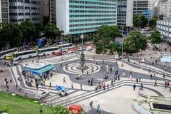 巴西走沿商业中心街道在圣诞老人特里萨 免版税图库摄影