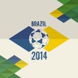 巴西足球世界杯2014年背景 库存图片