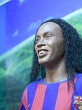 巴西足球运动员ronaldinho的蜡象 库存照片