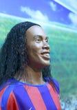 巴西足球运动员ronaldinho的蜡象 免版税库存图片