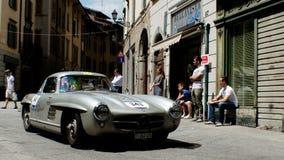 默西迪丝300在Mille Miglia的SL 2016年 免版税库存图片