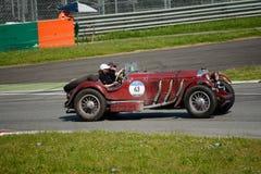 1929年默西迪丝710 SSK在Mille Miglia 免版税库存图片