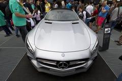 默西迪丝AMG GT S DTM 免版税图库摄影