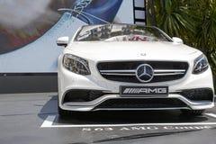 默西迪丝S63 AMG小轿车外部设计  免版税库存照片