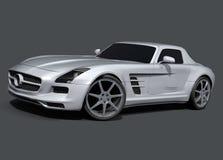默西迪丝SLS AMG跑车 免版税图库摄影