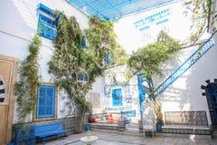 西迪布赛义德典型的房子 免版税库存图片