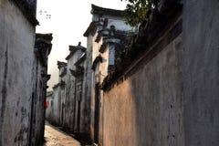 西迪,一个小古老村庄在安徽在黄色山附近的中国 库存图片