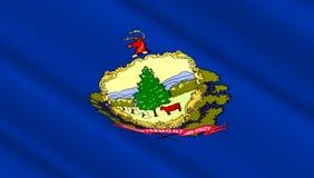 西部佛蒙特状态旗子  免版税库存照片