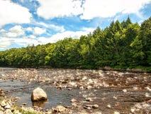 西部加拿大小河 免版税库存照片