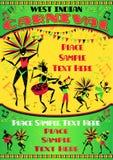 西部印地安狂欢节画象海报 免版税库存图片