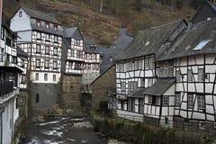 西部城市德国有历史的monschau 免版税图库摄影