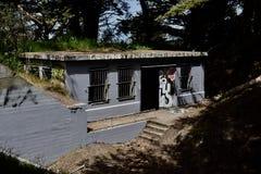 西部堡垒Miley遗骸被美化在街道画, 10下 免版税库存照片
