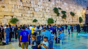 西部墙壁在耶路撒冷是一个主要犹太神圣的地方 免版税库存照片