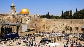 西部墙壁在耶路撒冷犹太神圣的地方 免版税库存照片