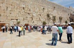 西部墙壁在耶路撒冷以色列 免版税图库摄影