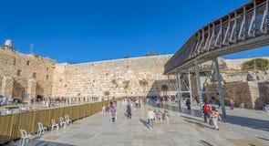 西部墙壁在耶路撒冷 免版税库存照片