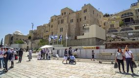 西部墙壁或哭墙是圣地对犹太教在老城耶路撒冷,以色列 免版税库存图片