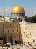 西部墙壁,宗教站点犹太人民,岩石的圆顶,伊斯兰教的寺庙,耶路撒冷,以色列耶路撒冷旧城  免版税库存照片