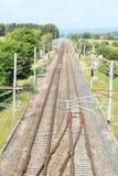 西部外套铁路线 库存图片