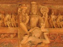 西部小组克久拉霍寺庙,联合国科教文组织遗产站点,为它性感的色情雕塑,印度,晴天是著名的 库存照片