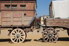 西部展示在塔宾斯沙漠自行车赛西班牙 免版税库存图片