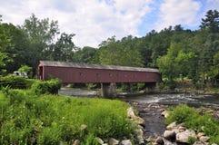 西部康沃尔郡康涅狄格被遮盖的桥 库存图片