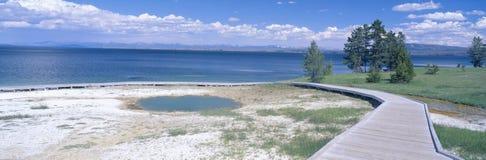 西部拇指喷泉水池,黄石,怀俄明 免版税库存图片