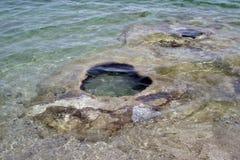 西部拇指喷泉水池,黄石 免版税库存图片