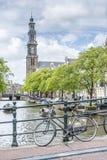 西部教会在阿姆斯特丹,荷兰 免版税库存图片
