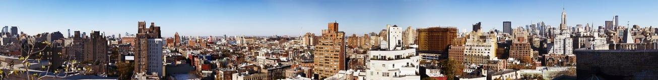 西部村庄和曼哈顿中城全景纽约 免版税库存照片