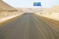西部沙漠路-埃及 免版税库存图片