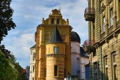 西部波希米亚的博物馆在Pilsen,老建筑学, Pilsen,捷克 免版税库存图片