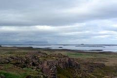 西部海湾视图在冰岛 免版税库存照片