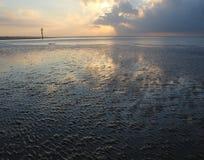 西部海滩沙子 库存照片