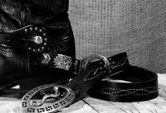 西部牛仔静物画 免版税库存图片