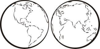 西部的东半球 库存照片