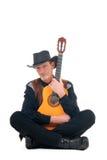西部的乡村歌手 免版税库存照片