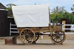 西部的无盖货车 免版税库存图片