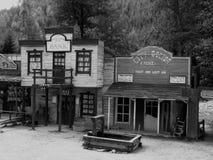 西部的村庄 免版税库存照片