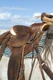 西部的马鞍 免版税库存图片