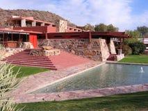 西部的Taliesin,斯科茨代尔,亚利桑那 免版税库存图片