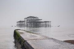 西部码头布赖顿英国 免版税库存照片