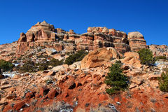 西部科罗拉多坚固性的风景 免版税图库摄影